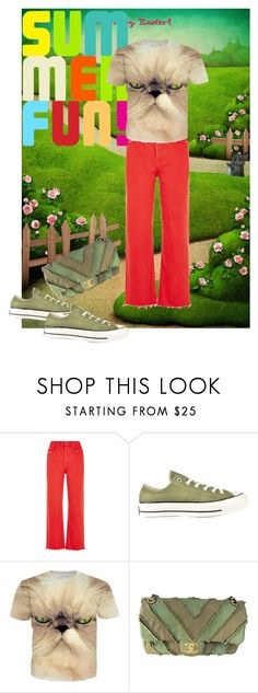 """""""Summer fun"""" by matan-sowatskey ❤ liked on Polyvore featuring Green & Spring, GRLFRND, Converse and Chanel"""