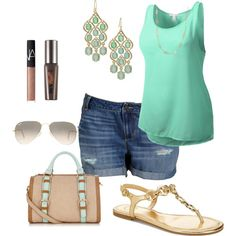 Summer 4- plus size outfit, created by smileyjane on Polyvore