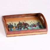 Gift your guests an artistic touch of Rajasthani art with this beautiful royal procession made from gemstone painting