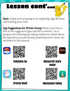 This lesson supports the process for evaluating, discussing, reviewing and writing reviews using Apps. Your students will review some suggested Apps, work together to share what they notice are part of the reviews, collaborate with other peers to communicate what makes the App review good or not so good, use Review Rating form to evaluate App Reviews, then get started on their own reviews (add to this lesson or be on the lookout for the continuation). This is a suggested lesson for Days 1&2.