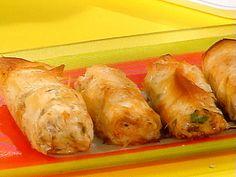 """Bada-Da-Bing"" Italian Chicken Cigars Recipe with 13 ingredients Phyllo Dough Recipes, Pastry Recipes, Cooking Recipes, Cooking Stuff, Skillet Recipes, Cooking Gadgets, Cooking Tools, Rachel Ray Recipes, 30 Minute Meals"