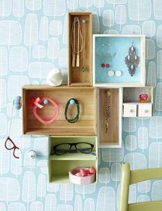 Περιοδικό Έτσι Απλά | Iδέα Do it! Κοσμήματα σε τάξη… - recycling drawers & boxes