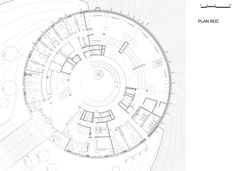 Ground level plan. © by Bernard Tschumi Architects.
