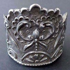 19th c. Spanish Colonial Silver Santo, Madonna Crown, corona