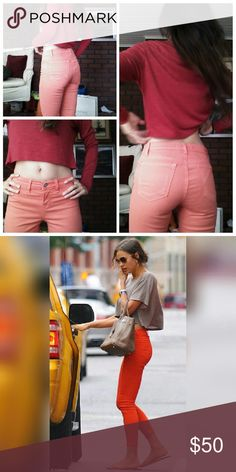 J Brand Skinny Jeans Beautiful color practically new , the texture is fantastic ! Like a peach J Brand Jeans Skinny