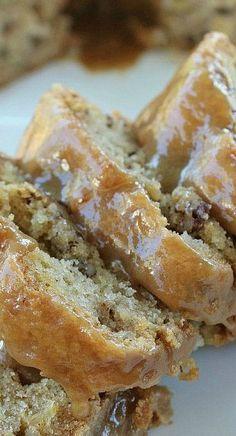 Apple Pecan Cake with Caramel Glaze | Baking Blond