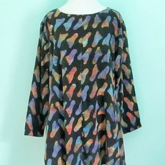 Vintage 1970's Batik Blouse Retro Foot Print by ChinaCatVintage