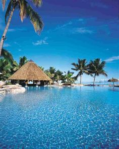Crystal clear blue water and sunshine... I'm thinking Fiji is the place to be right now.