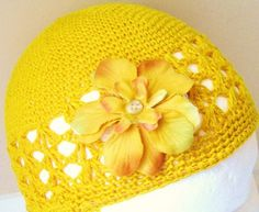 Knit with flowers