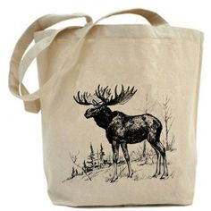 Free shipping in USA...Moose - Eco Friendly Canvas Tote Bag (1.175 RUB) found on Polyvore featuring women's fashion, bags, handbags, tote bags, accessories, brown canvas tote, brown tote, handbags totes, brown purse and canvas purse