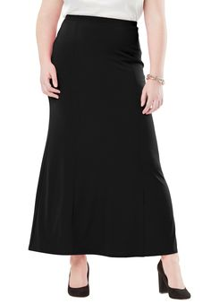 5facf9420aa Travel Knit Maxi Skirt - Women s Plus Size Clothing Womens Maxi Skirts