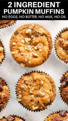 Two Ingredient Cakes, 2 Ingredient Pumpkin Muffins, Homemade Pumpkin Puree, Canned Pumpkin, Freezing Pumpkin, Pumkin Cake, Spice Cake Mix, Savory Breakfast, Holiday Baking