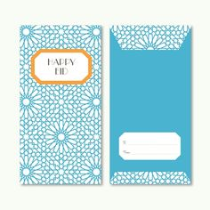Printable Eid Money Envelope (Orange + Blue) by Sakina Design