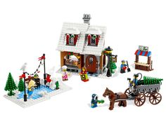 Call me a dork but I love the Lego Christmas scenes...Return to yesteryear with this festive holiday scene!
