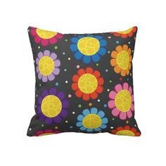 Bright Flowers Pillow