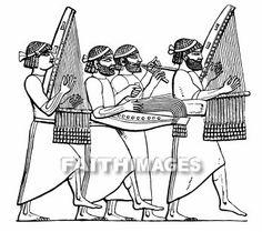 Music, Musical, instrument, Assyrian, Babylonian, sackbut