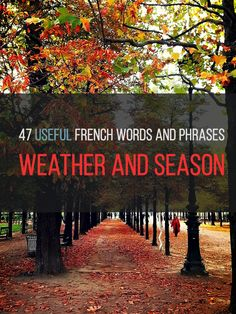 Another useful vocabulary list. You can also download an extended version.  http://www.talkinfrench.com/weather-seasons/ Do not hesitate to share