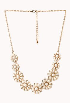 Dainty Floral Faux Stone Necklace