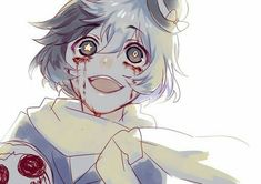 Bloody insane anime boy Guro Bungou Stray Dogs