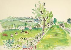 View Printemps normand by Raoul Dufy on artnet. Browse upcoming and past auction lots by Raoul Dufy. Max Ernst Paintings, Raoul Dufy, Scenic Design, Duffy, Famous Artists, Travel Posters, Watercolor Paintings, Watercolor Flowers, Watercolour