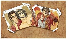 James, Sirius, and Lily