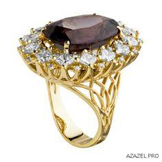 Spinel & Diamond Ring