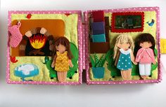 Evie's dollhouse quiet busy book
