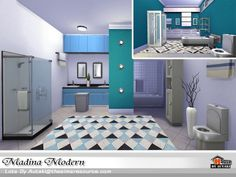 The Sims Resource: Madina Modern by Autaki Sims Resource, Madina, Sims House, Sims 4, Modern, Houses, Furniture, Games, Home Decor