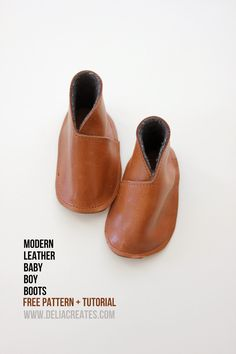 Everyday Art: Modern Leather Baby Boy Boots (FREE Pattern!)