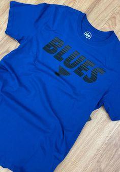47 St Louis Blues Blue Monochrome Stripe Short Sleeve T Shirt - 48004480 St Louis Blues, Striped Shorts, Blue Shorts, Short Sleeve Tee, Short Sleeves, Great Books, Monochrome, Unisex, Long Live