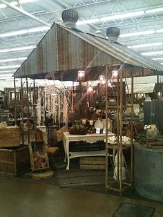I would love to make a gazebo out of these materials.  How awesome would that be?