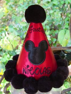 I think you could do a DIY version of this cute Mickey Mouse party hat and save yourself 35 bucks