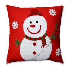 A grinning snowman with a soft, fuzzy texture makes the Pillow Perfect Snowman Throw Pillow a fun addition to your interior. Buy Pillows, Red Throw Pillows, Throw Pillow Sets, Outdoor Throw Pillows, Decorative Throw Pillows, How To Clean Pillows, Pillow Room, Perfect Pillow, Appliques