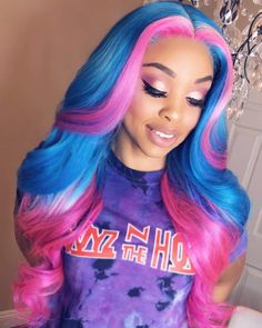 [New] The 10 Best Hairstyle Ideas Today (with Pictures) - Repost By nicolenoirehair: Unicorn hair love Hair inspiration Tag the source! Frontal Hairstyles, Baddie Hairstyles, Weave Hairstyles, Pretty Hairstyles, Hairstyle Short, Black Hairstyles, Hairstyle Ideas, Short Hair, Lace Front Wigs