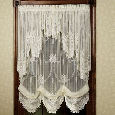 lace balloon curtains and valances | Home Garland Lace Balloon Shade 56 x 84