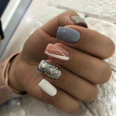 Amazing nails, different colors - ChicLadies.uk - Amazing nails, different colors – ChicLadies.uk Amazing nails, different colors – ChicLadies. Hot Nails, Pink Nails, Hair And Nails, Hot Nail Designs, Glamour Nails, Pretty Nail Art, Nagel Gel, Square Nails, Stylish Nails