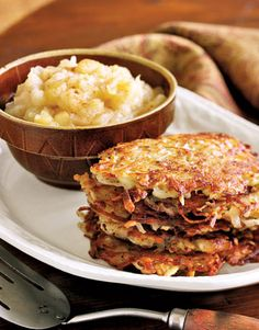 Potato Pancakes with Nutmeg. Substitute whole wheat or other whole grain flour and olive oil.
