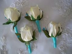 One Realtouch Rose Groom Groomsman Boutonniere by modagefloral, $12.00