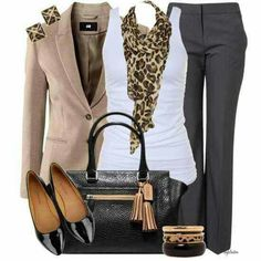 I love when scarfs match earrings. This is beautifully put together, and a very simple-dressy outfit for those days that you will be sitting in meetings.   cm