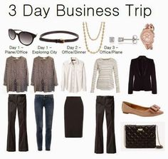 Donna Types Words: My 3 Day Business Trip Capsule Wardrobe