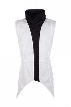 Delusion Evolve Sleeveless Shirt Black/White