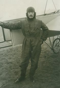 Jacques de Lesseps French Aviation Pioneer Record Attempt old Photo 1909