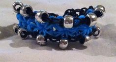 Black, Blue, and Sliver Rubber Band Bracelet. Please visit my facebook page called The Pelican By Kristin Margarite. https://www.facebook.com/ThePelicanbyKristin/?ref=aymt_homepage_pane