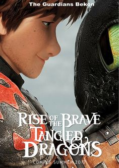 Fan made poster for The Big Four (Rise of the Brave Tangled Dragons). Hiccup. By MC  I wish this was real!!