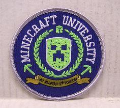 minecraft patches embroidered | MINECRAFT Video Game MINECRAFT UNIVERSITY Logo Embroidered Patch-3.5 ...