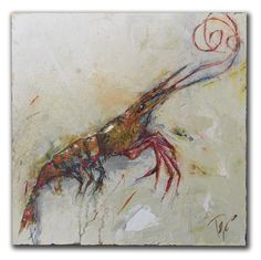 "Jumbo Shrimp 24"" X 24"" (on board)"