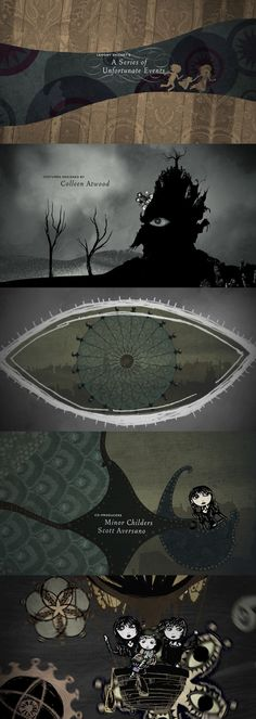 Lemony Snicket's A Series of Unfortunate Events - end credits - designer: Jamie Caliri