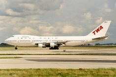 TWA 747 - white paint - livery change - Trans World Airlines