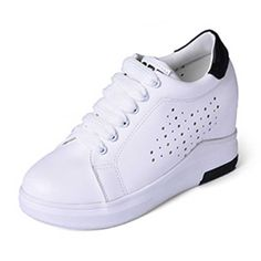 Hole Shaped 2017 Spring And Autumn Concise White Vulcanize Shoes School Style lace-up Women Shoes Size 35-39