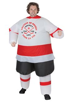 Inflatable Hockey Player Costume